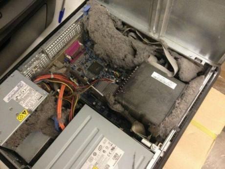Системный блок компьютера - склад пыли