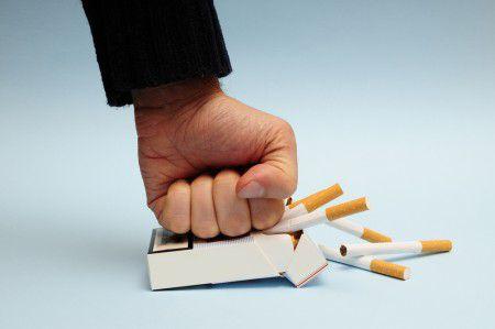 Чтобы бросить курить нужна железная воля